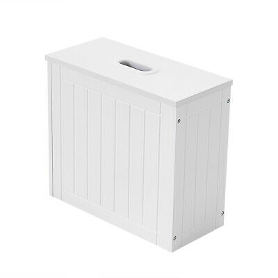 £17.99 • Buy Wooden White Crisp Finish Small Toilet Cleaning Product Storage Tidy Box UK