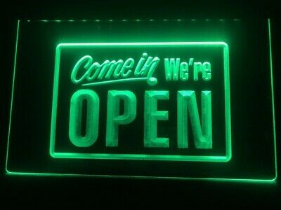 $22.09 • Buy New Come In We're OPEN Shop Café Bar Display LED Neon Light Sign Gift