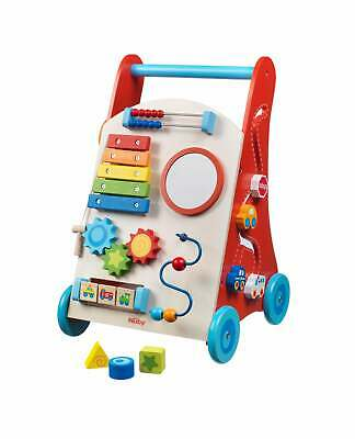 Nuby Wooden Baby Walker Push Along Wooden Toy Pull Along First Steps 10m+ • 43.99£