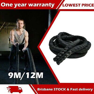 AU79.99 • Buy 9M 12M  Heavy Home Gym Battle Rope Battling Strength Training Exercise Fitness