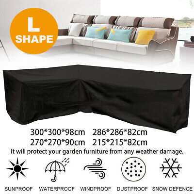 AU34.49 • Buy L Shape Outdoor Furniture Cover Waterproof Sofa Lounge Seat Couch Cover Garden