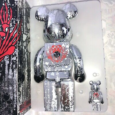 $495 • Buy 2005 Pushed Silver Edition Bearbrick 400% & 100% Be@rbrick NIB Limited