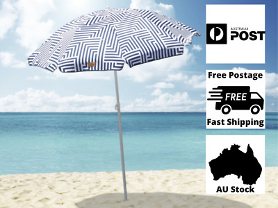 AU59.95 • Buy 1.8m Folded Beach Umbrella With Carry Bag Outdoor Summer Protection Fun