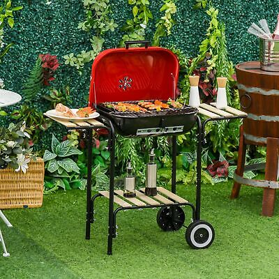 $ CDN110.30 • Buy Charcoal Steel Grill Portable BBQ Camping Picnic Garden Party W/ Wheels Red