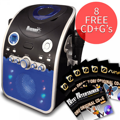 £79.99 • Buy Karaoke Machine With Bluetooth CD CDG Discs Party Package Disco Light 131 Songs