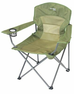 £16.90 • Buy Folding Camping Chair Luxury Padded Heavy Duty High Back Directors Cup Holder