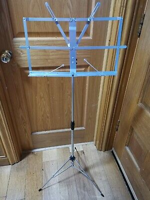 £4 • Buy Silver Metal Folding Music Stand (Brand New Unused)