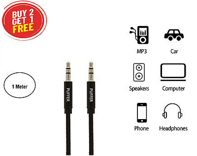 £1.99 • Buy Audio AUX Cable Nylon Braided 3.5mm Metal Jack Stereo For IPhone IPod Headphone