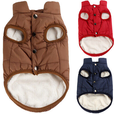 £6.36 • Buy Pet Dog Padded Clothes Fleece Lined Jacket Vest Winter Warm Coat Clothes Outfit
