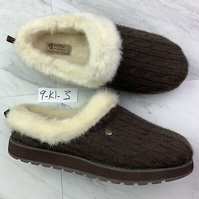 Bob's By Skechers Brown Keepsakes-Ice Angel Slippers Sleepers (Size 9) K1-3 • 25.33£