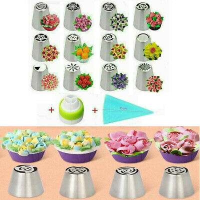 14PCS/Set Russian Stainless Pastry Tips Fondant Cake Decor Icing Piping Nozzles • 7.56£