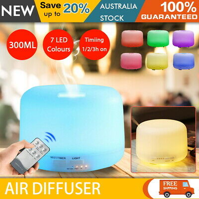AU13.29 • Buy 300-500ML Aroma Aromatherapy Diffuser Essential Oil Air Humidifier Purifier LED