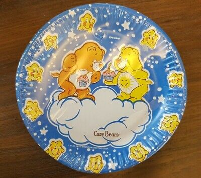 £8 • Buy Deeko Party Products X7 Paper Plates Care Bears 1984 NEW Vintage