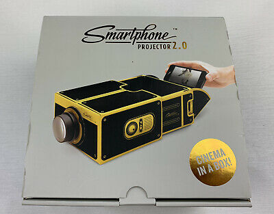 Smart Phone Projector, Watch IPhone/Android Videos On A Portable Home Cinema In • 4.25£