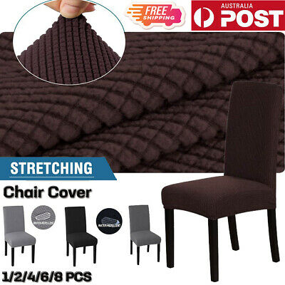 AU27.89 • Buy Premium Dining Chair Covers Spandex Jacquard SlipCover Wedding Banquet Party AU