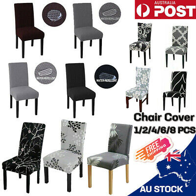 AU24.90 • Buy 1-8 PCS Dining Chair Covers Spandex Cover Stretch Washable Wedding Banquet Party