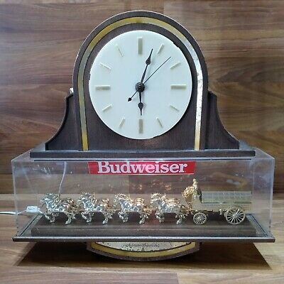$ CDN189.85 • Buy Vintage Budweiser Lanshire Clock Clydesdale Horse Beer Sign Antique Rare Item