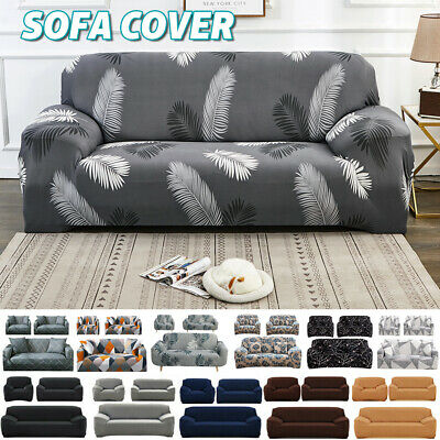 AU20.80 • Buy Sofa Covers Stretch Lounge Couch Slipcovers Protector 1 2 3 Seaters Dining Chair