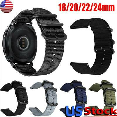 $8.39 • Buy 18-24mm Soft Woven Nylon Watch Band Sport Strap Military-Style Replacement US