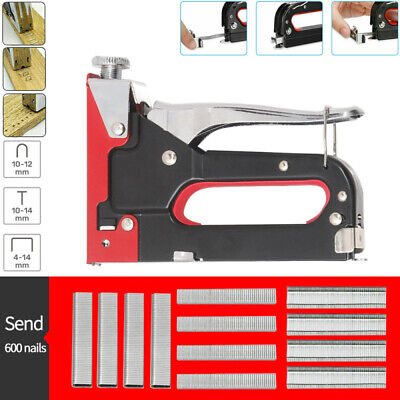 £9.98 • Buy Staple Gun Nail Stapler Ideal On Upholstery & Wood With 600 Accessories 4-14mm