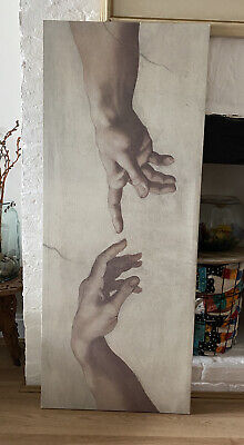 IKEA The Creation Of Adam By Michelangelo Ancient Painting Printed Large Canvas • 14£