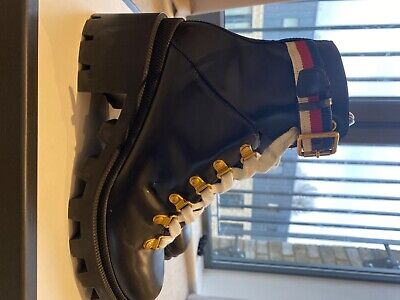 £400 • Buy Gucci Leather Ankle Boot With Sylvie Web Size 5
