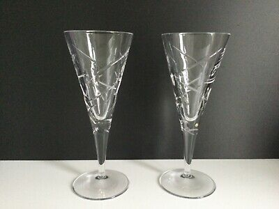 A Pair Of  LUNAR WINE GLASSES By ROYAL DOULTON Crystal - 8 1/2  H - NEW Cond.no2 • 40£