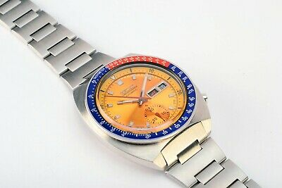 $ CDN1146.69 • Buy  Rare Vintage Seiko 6139-6002 Pogue Day Date Chronograph Automatic Steel Watch
