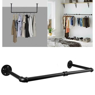 £14.99 • Buy Industrial Pipe Clothes Rack 92cm Wall Mounted Detachable Garment Hanging Rail