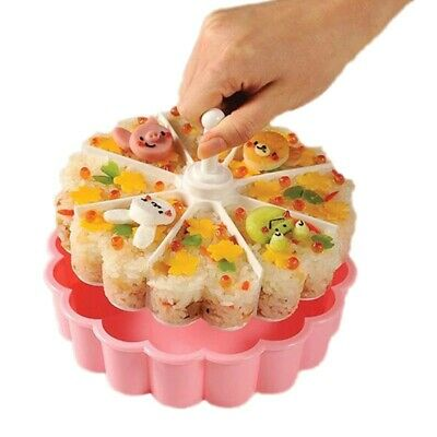Sushi Mold Baking Jelly Pudding Cups Layers Of Rice Balls 8 Hole Heart-Shaped • 13.91£