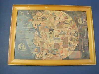 $45 • Buy Vintage Millard Sheets Wood Framed The Panorama Of Today In  Northern California