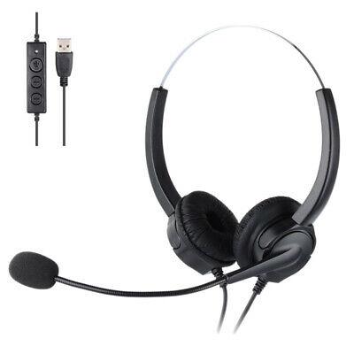 USB Call Center Headset With Microphone, Suitable For Skype Computer T7H1 • 30.06£