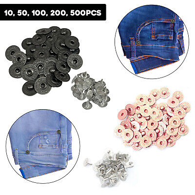 £2.19 • Buy Brass Jeans Denim Rivets Fasteners Buttons With Pins Leathercraft Tack Alloy
