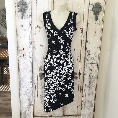 AU21.41 • Buy My Michelle Size Small Woman's Black White Floral Sleeveless Dress