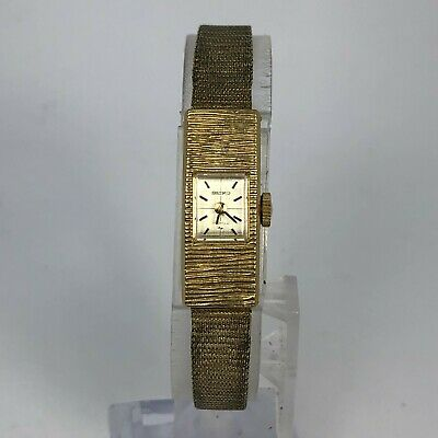 $ CDN25.31 • Buy Read Seiko Womens 1520-3359 Gold Tone Mechanical Wind Up Bracelet Watch