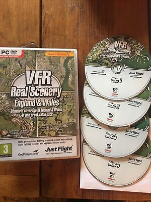 £25 • Buy VFR REAL SCENERY England & Wales Vol 1 2 3 & 4 Complete Set Pc DVD Add-On FSX