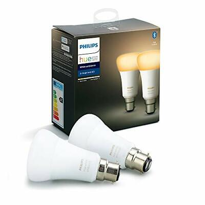 AU96.52 • Buy Philips Hue White Ambiance Smart Bulb Twin Pack LED [B22 Bayonet Cap] With