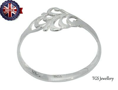 Gentle 925 Solid Silver Ladies Ring UK Hand Finished All Size Available  • 9.99£