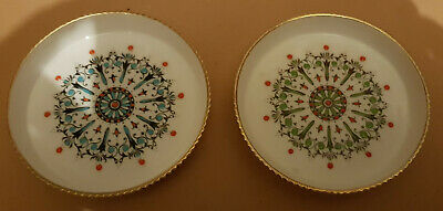£8.99 • Buy Two Hand Painted Royal Worcester Whiskey Glass Coasters - Medallion Design