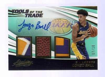 AU628.33 • Buy 2017-18 Panini Absolute ... Lonzo Ball Tools Of The Trade Auto Patch RC #7/10
