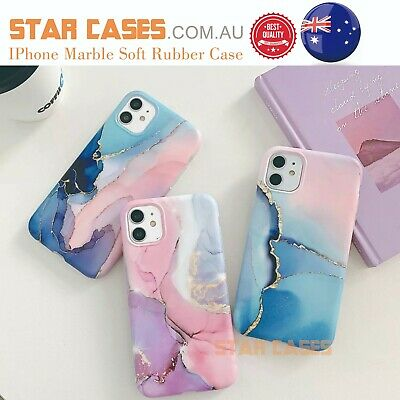 AU10.99 • Buy IPhone 12 11 Pro Max X XS XR Marble Silicone Shockproof Soft Slim Case Cover