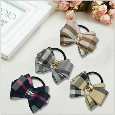 $ CDN5.37 • Buy Elastic Hair Bands For Women Girls Bows Ties Plaid Styling Hairbands Accessories