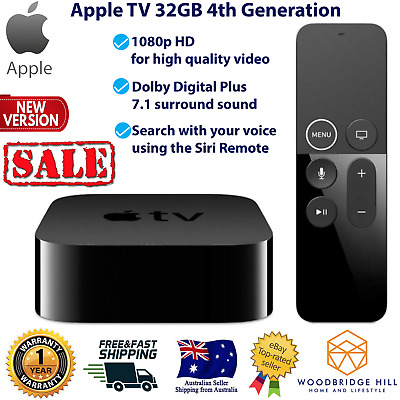 AU238 • Buy Brand New Apple TV 4th Generation 32GB Full High Definition Media Streamer HDMI