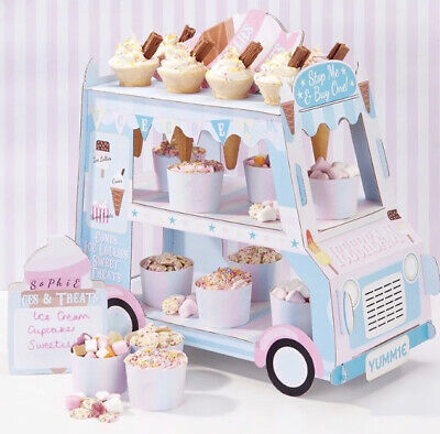 Ice Cream Van Display Stand Cake Dessert Birthday Party Sweets Treats Partyware • 13.49£