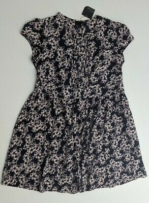 AU24.50 • Buy Asos Curve Blue Purple Floral Flare Dress Knee Length Short Sleeve Plus Size 24