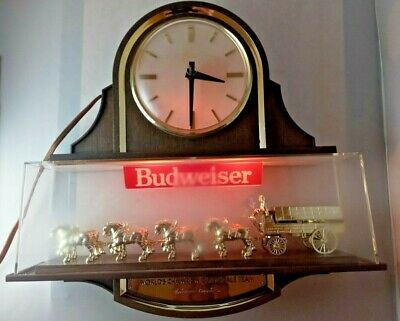 $ CDN215.16 • Buy VTG Budweiser Lighted Clock Sign World's Champions Clydesdale Team Man Cave Bar