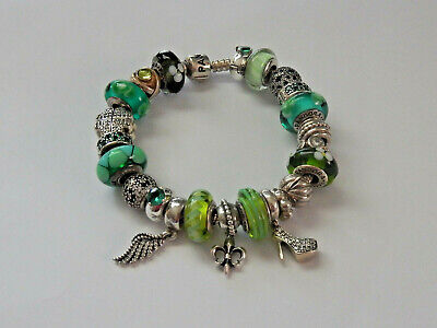 AU24 • Buy Choice Of GENUINE PANDORA S/Silver & Green CHARMS. Most Retired