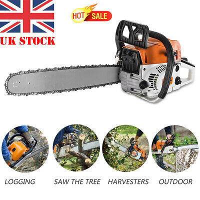 20  Gas Chainsaw 2-Cycle Wood Cutting Hand Tool 52cc 2-stroke Gasoline Chain Saw • 72.49£
