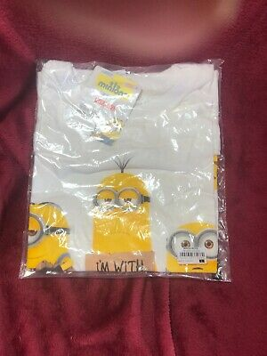 Despicable Me (Minions) - I'm With Stupid - Official Mens T Shirt - LARGE • 7.99£