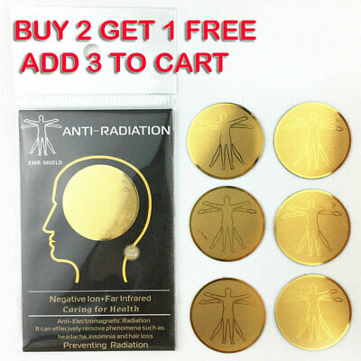 EMF Protection Quantum Anti Radiation Tablet Laptop Phone Mobile Stickers Safe • 17.28£